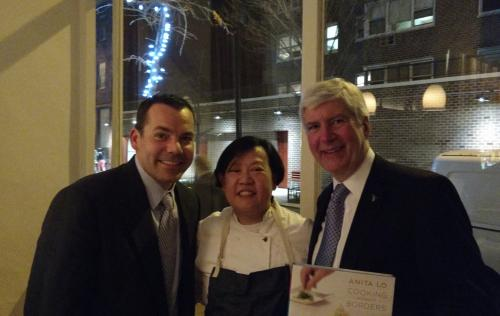 Mike, Chef Anita Lo and Gov. Snyder in NYC_0_0.jpg